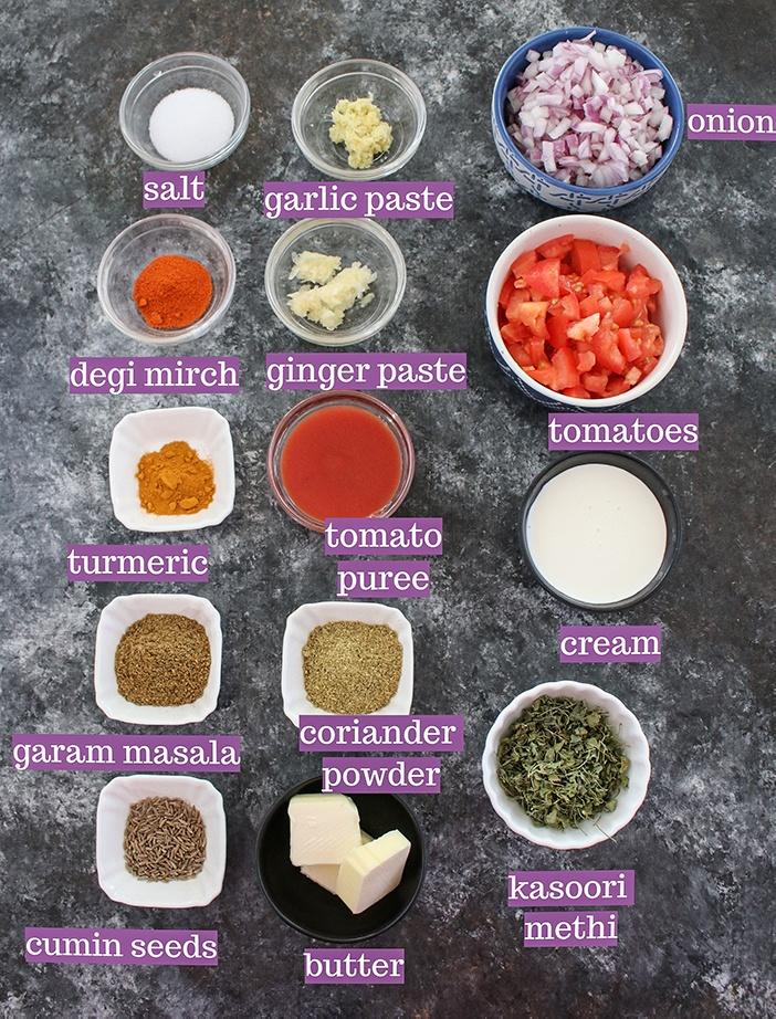 Ingredients to make Dal Makhani recipe