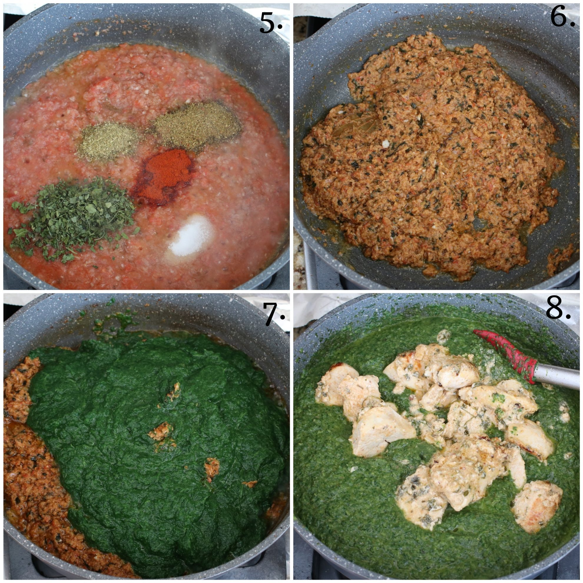 The base sauce of Palak Murgh