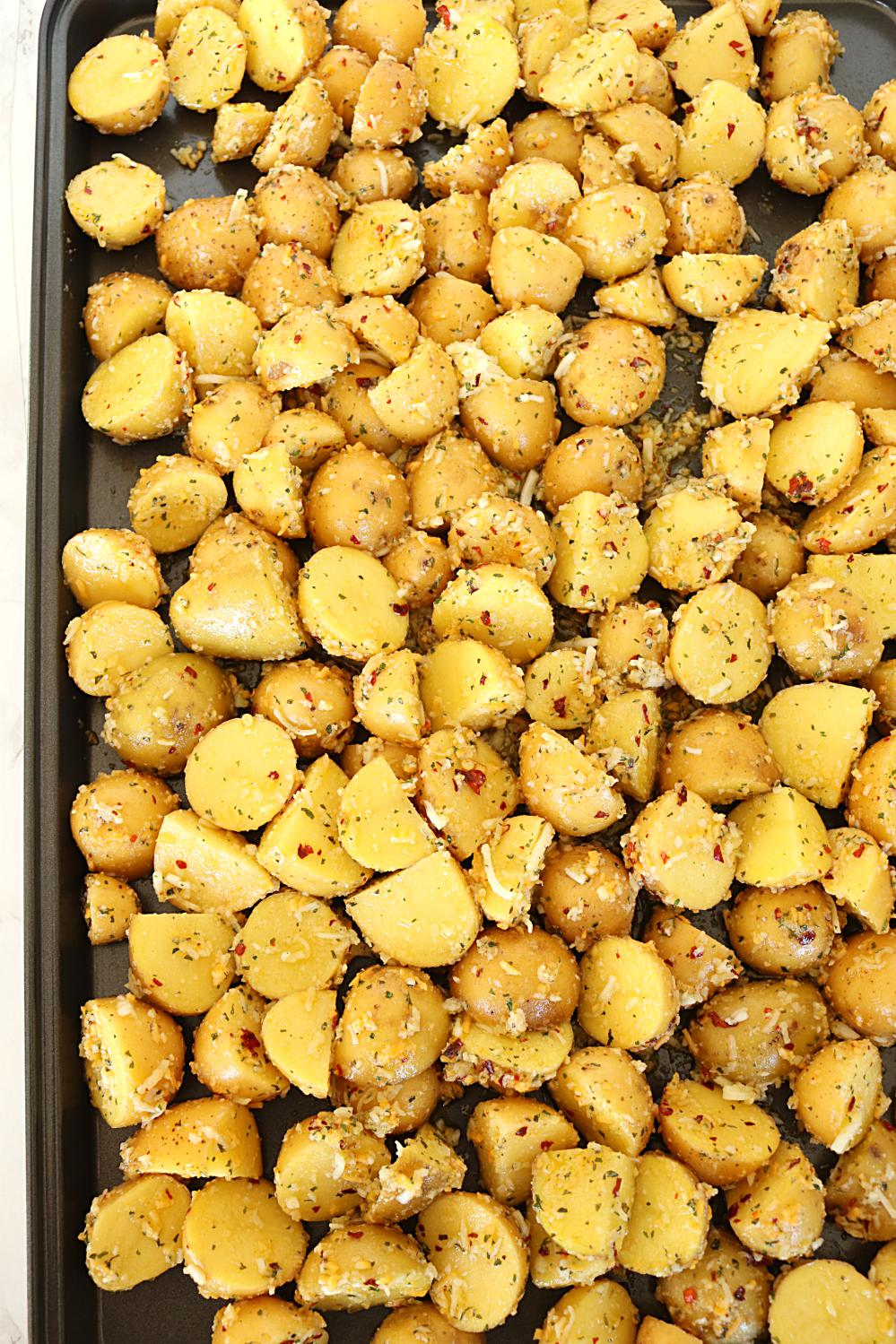 Oven Roasted Potatoes - Ruchiskitchen
