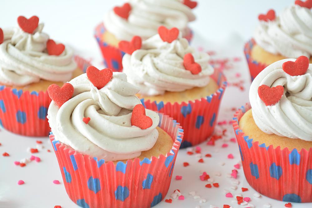Eggless Vanilla Cupcakes image