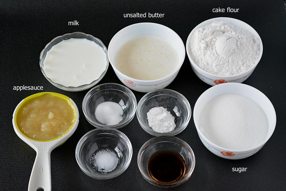Ingredients For Making A Vanilla Cake