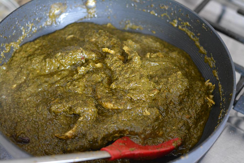 palak chicken ready - Winner of  Cooking Competition March 2018