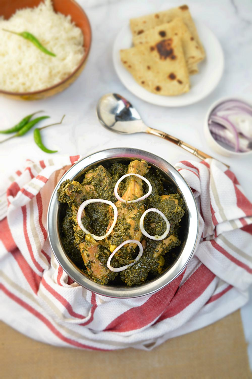 Saag Wala Chicken or Palak Chicken