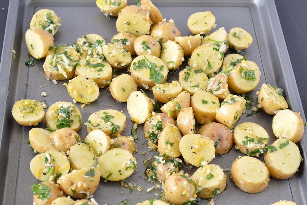potatoes on tray