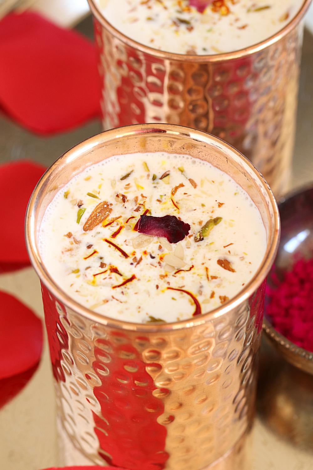Homemade Thandai Recipe - Ruchiskitchen