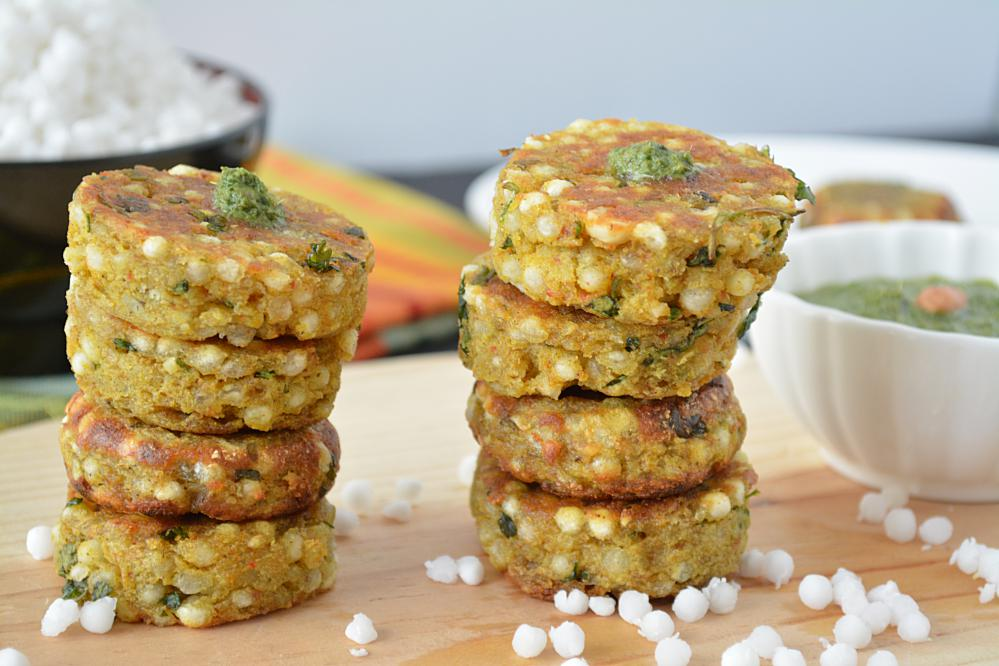 Non -fried Sabudana Cutlets