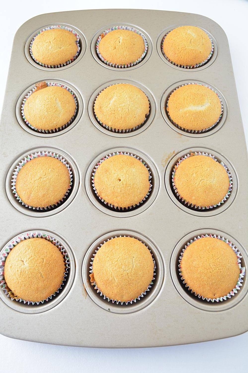 Eggless vanilla cupcakes picture