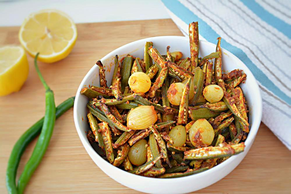 Baked Bhindi do pyaza