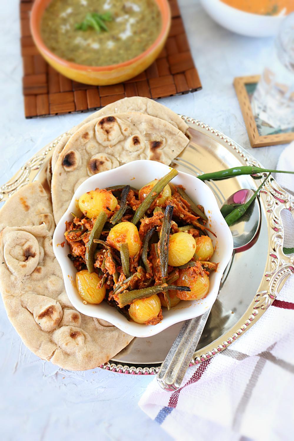 Baked Bhindi do pyaza
