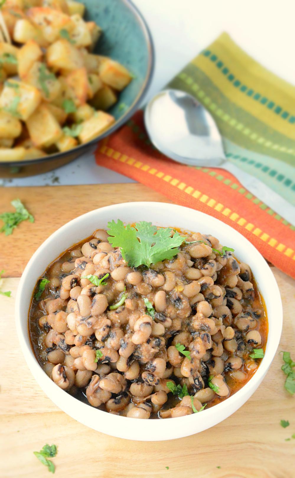 Punjabi lobia masala - no onion no garlic recipe