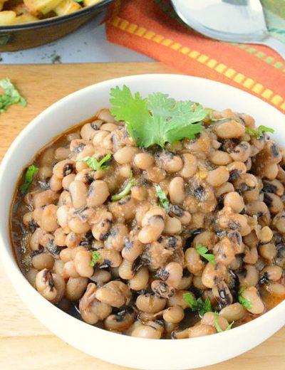 Punjabi lobia masala – no onion no garlic recipe