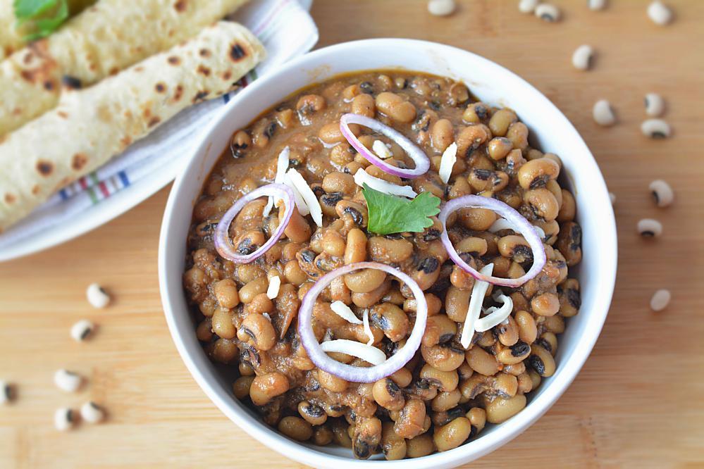Punjabi lobia masala in slow cooker
