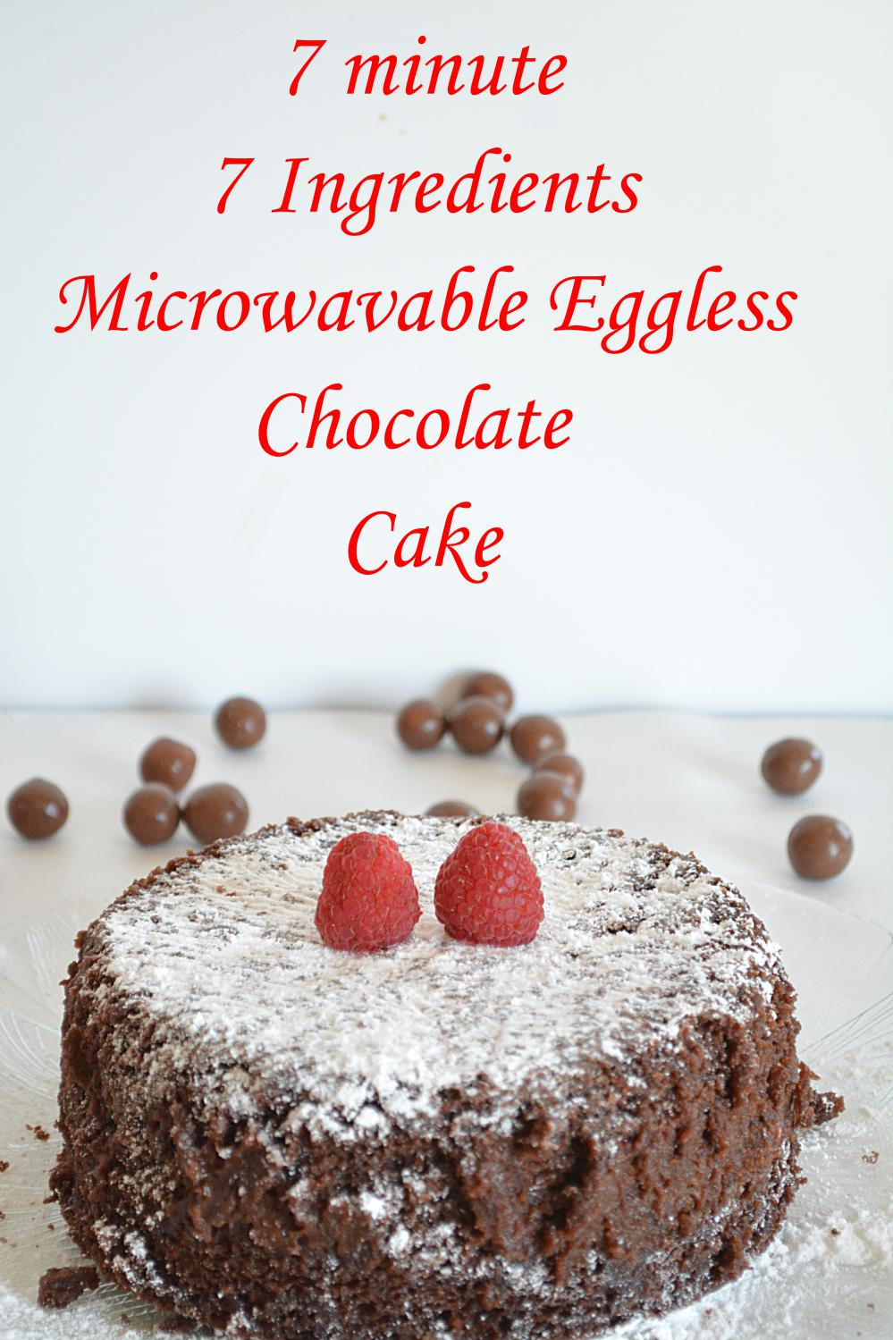 7 minute Eggless Chocolate Cake image