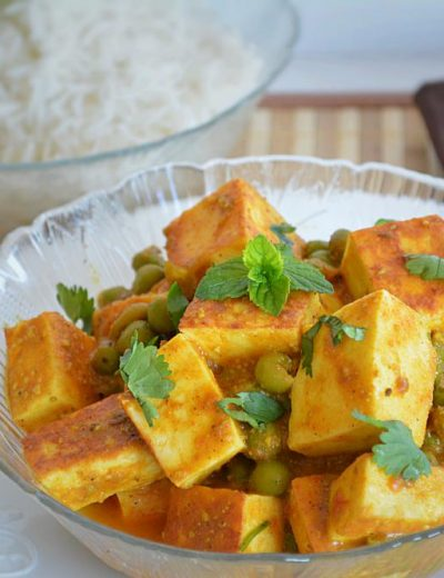 Mutter Paneer – no onion-garlic recipe
