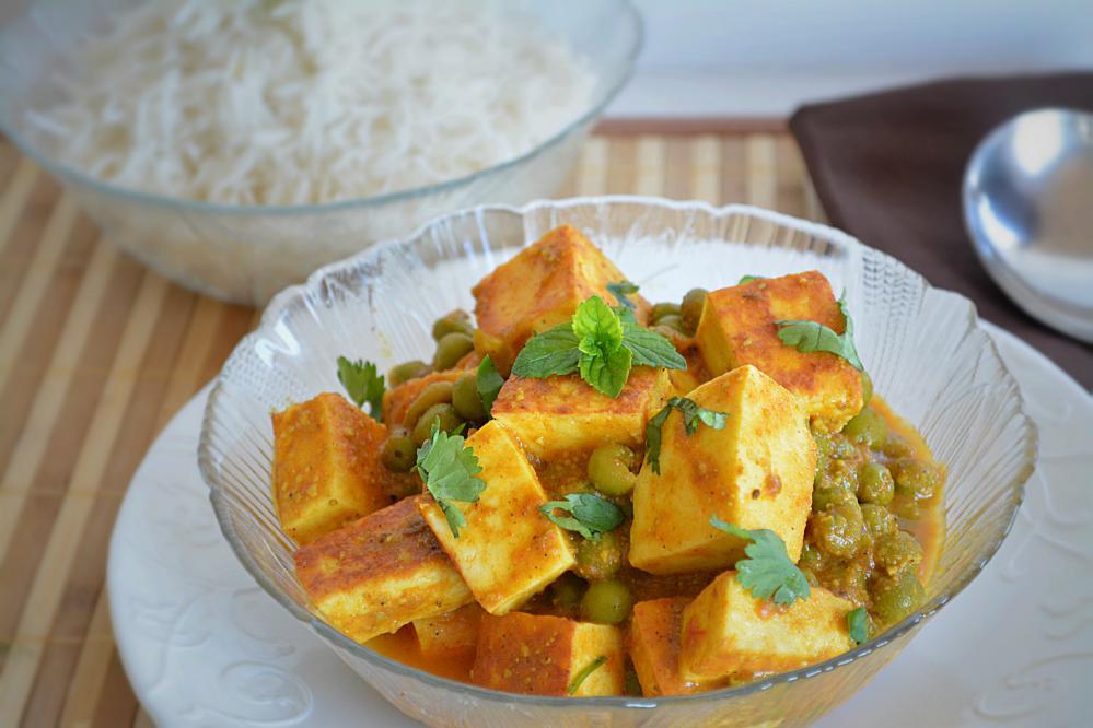 Mutter Paneer – no onion-garlic recipe