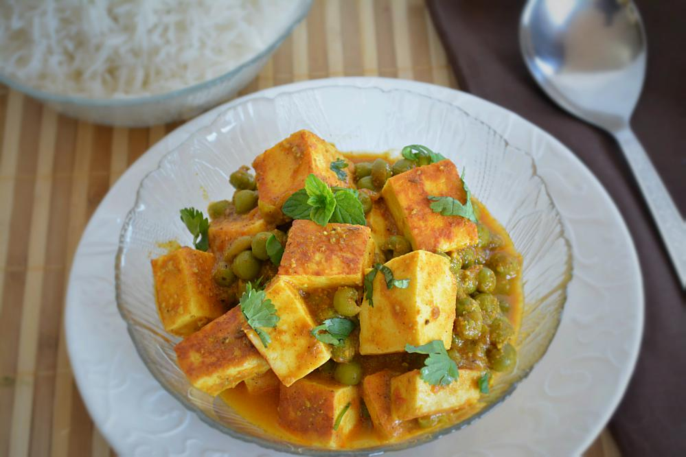 Mutter Paneer - no onion-garlic recipe