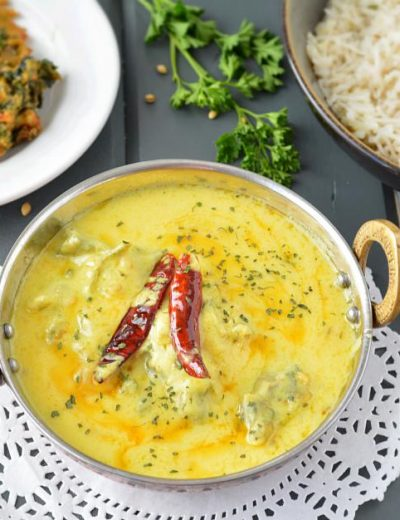 Healthy Punjabi Kadhi with non-fried pakoras