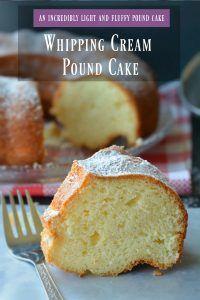 Whipping Cream Pound Cake cut piece - Ruchiskitchen