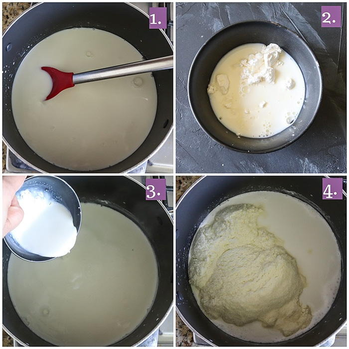 Making of kulfi