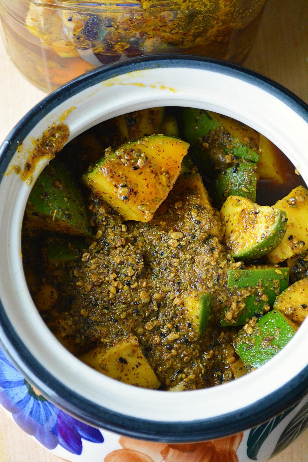 Aam ka achar - Mango Pickle