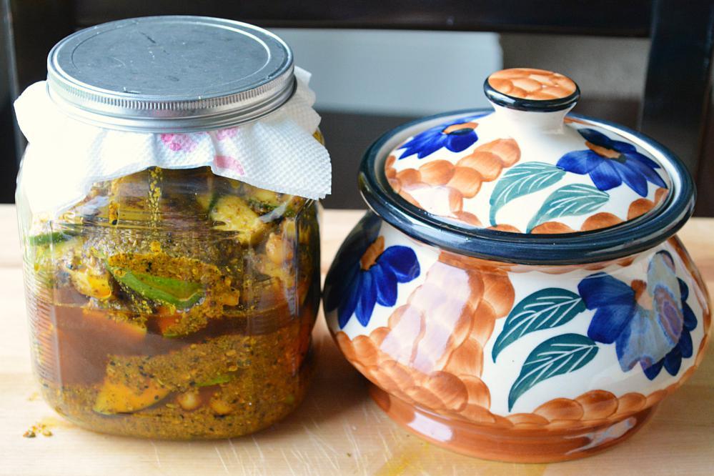 Punjabi Aam ka achar - spicy Mango Pickle