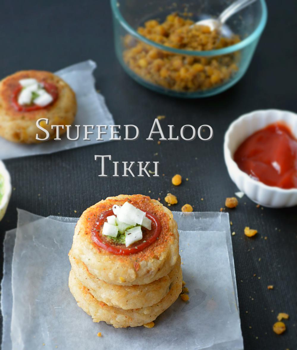 Indian Street Food Aloo Tikki Recipe: Stuffed Aloo Tikki