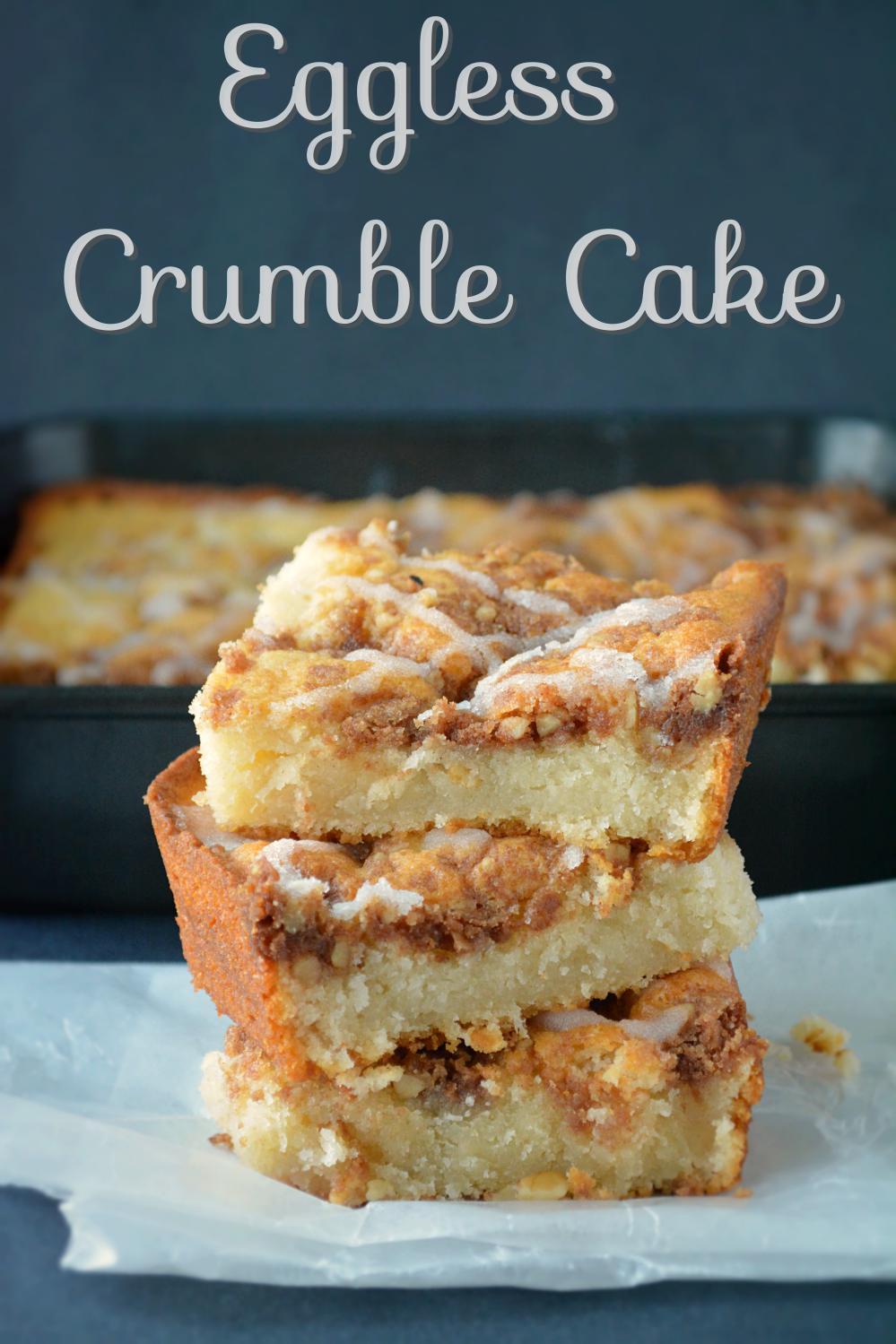 Eggless Crumble Cake