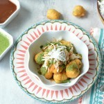 Ram Ladoo Recipe topped with raddish - Ruchiskicthen