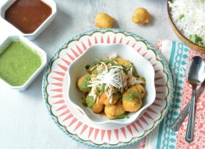Ram Ladoo Recipe topped with raddish - Ruchiskicthen