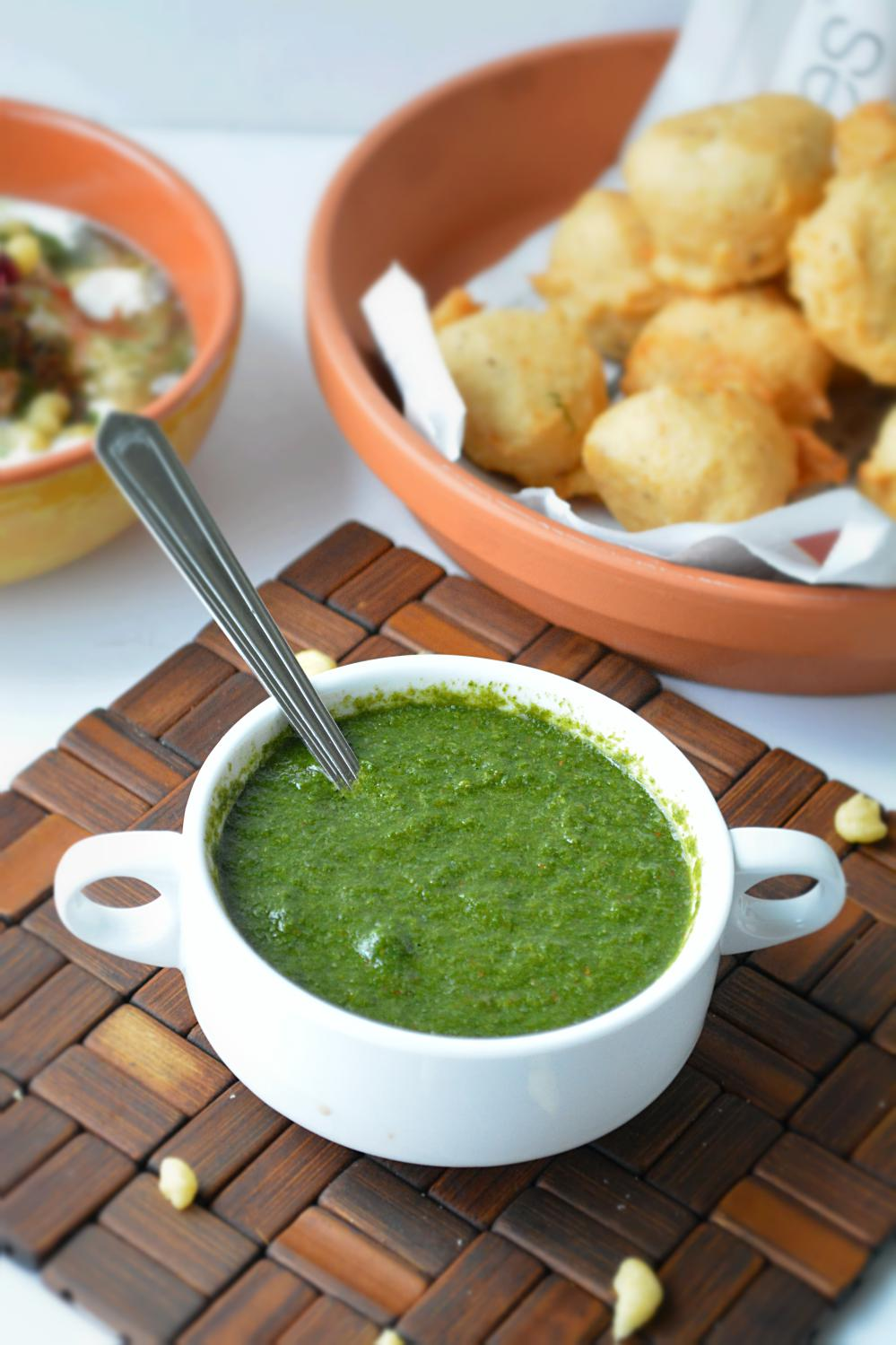 Green Chutney for chaats