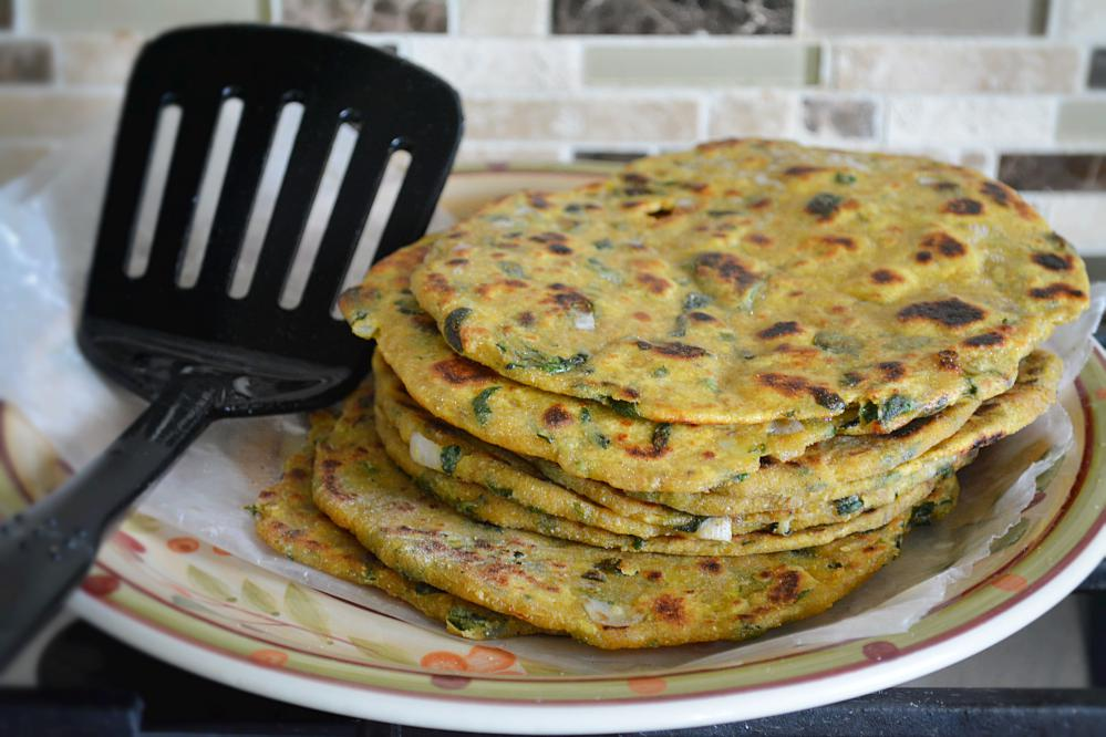 Cooked parathas