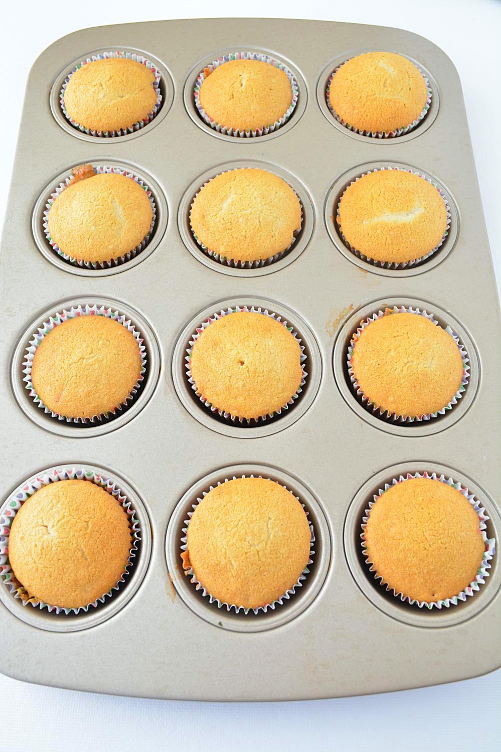 Fail-proof Eggless Vanilla Cupcakes