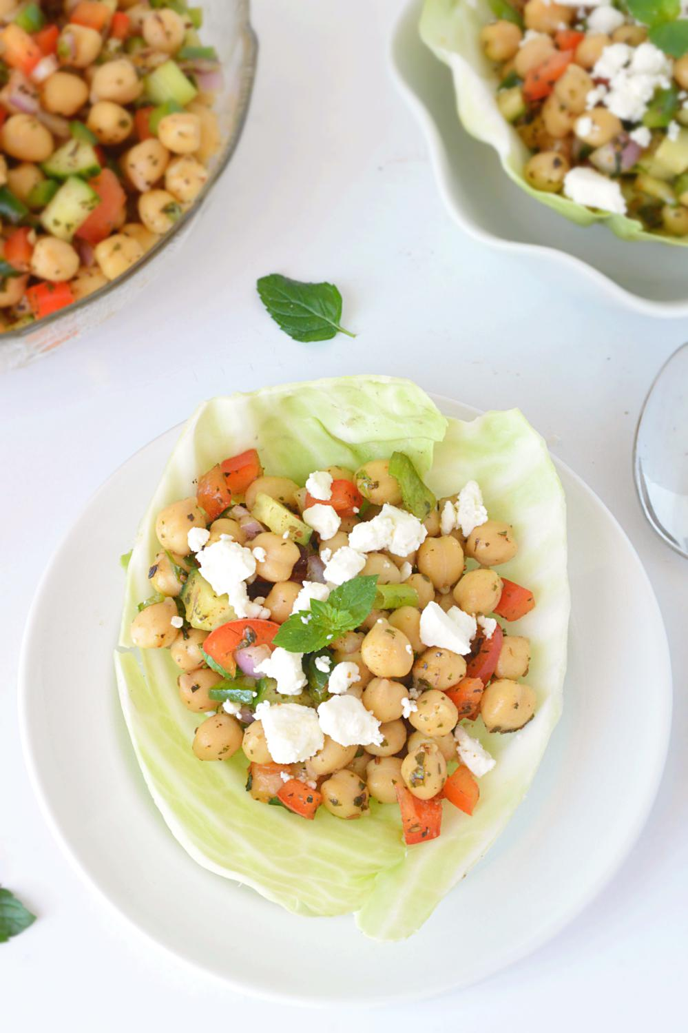 Chana Salad or Chickpea Salad