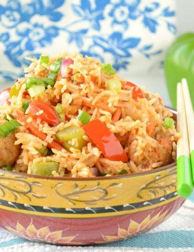 Veg Manchurian Rice
