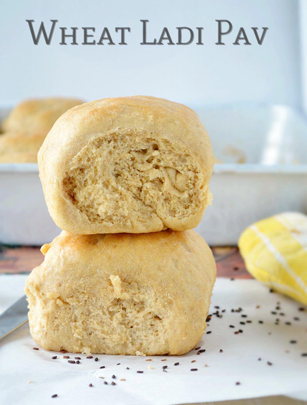 Wheat Ladi Pav Recipe
