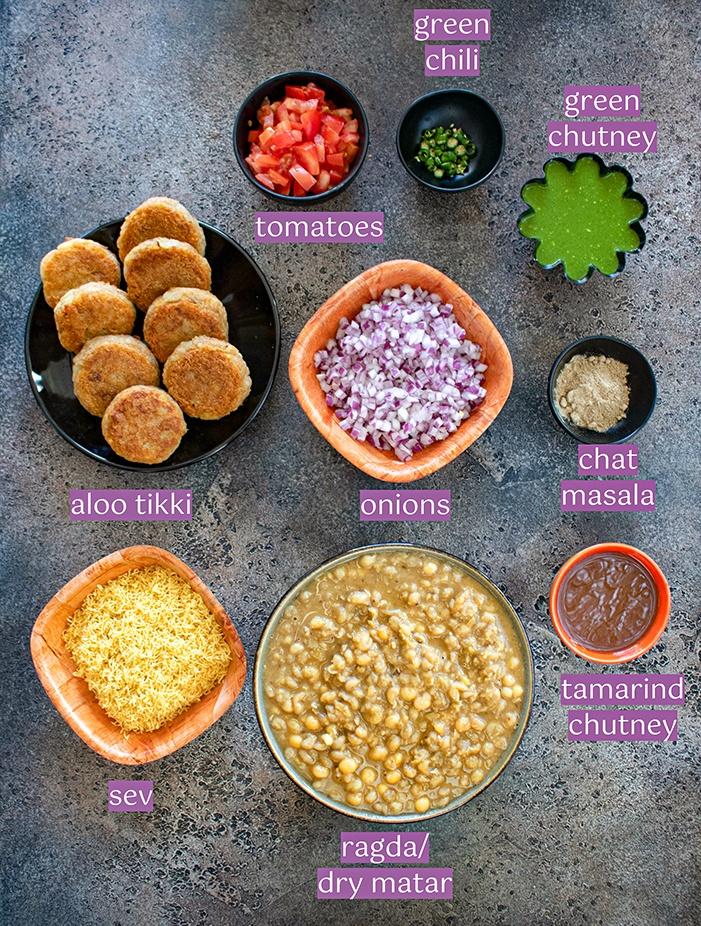Ragda pattice ingredients