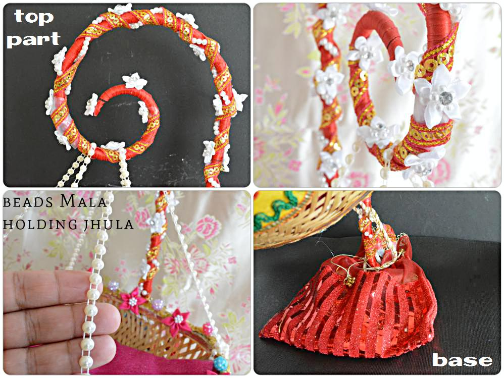 Step by step process on how to make Janmashtami Jhula at home