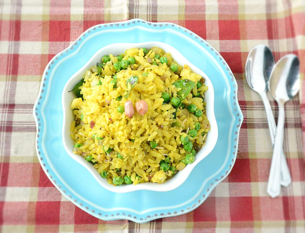 Matar Poha or Chura Matar Recipe