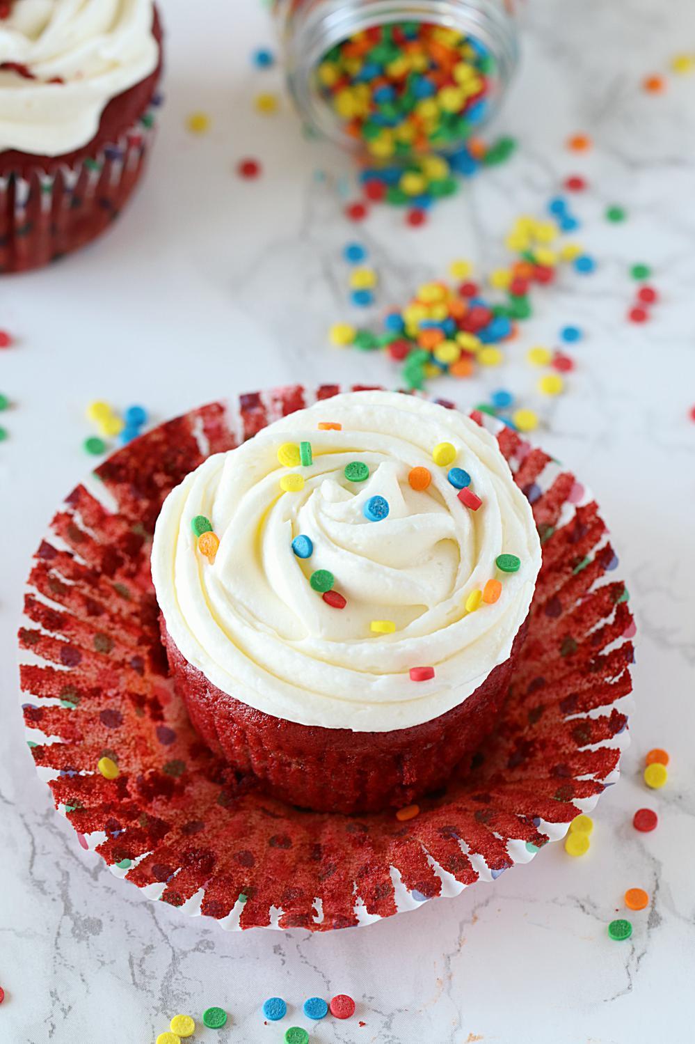 How to make Eggless Red Velvet Cake - Ruchiskitchen