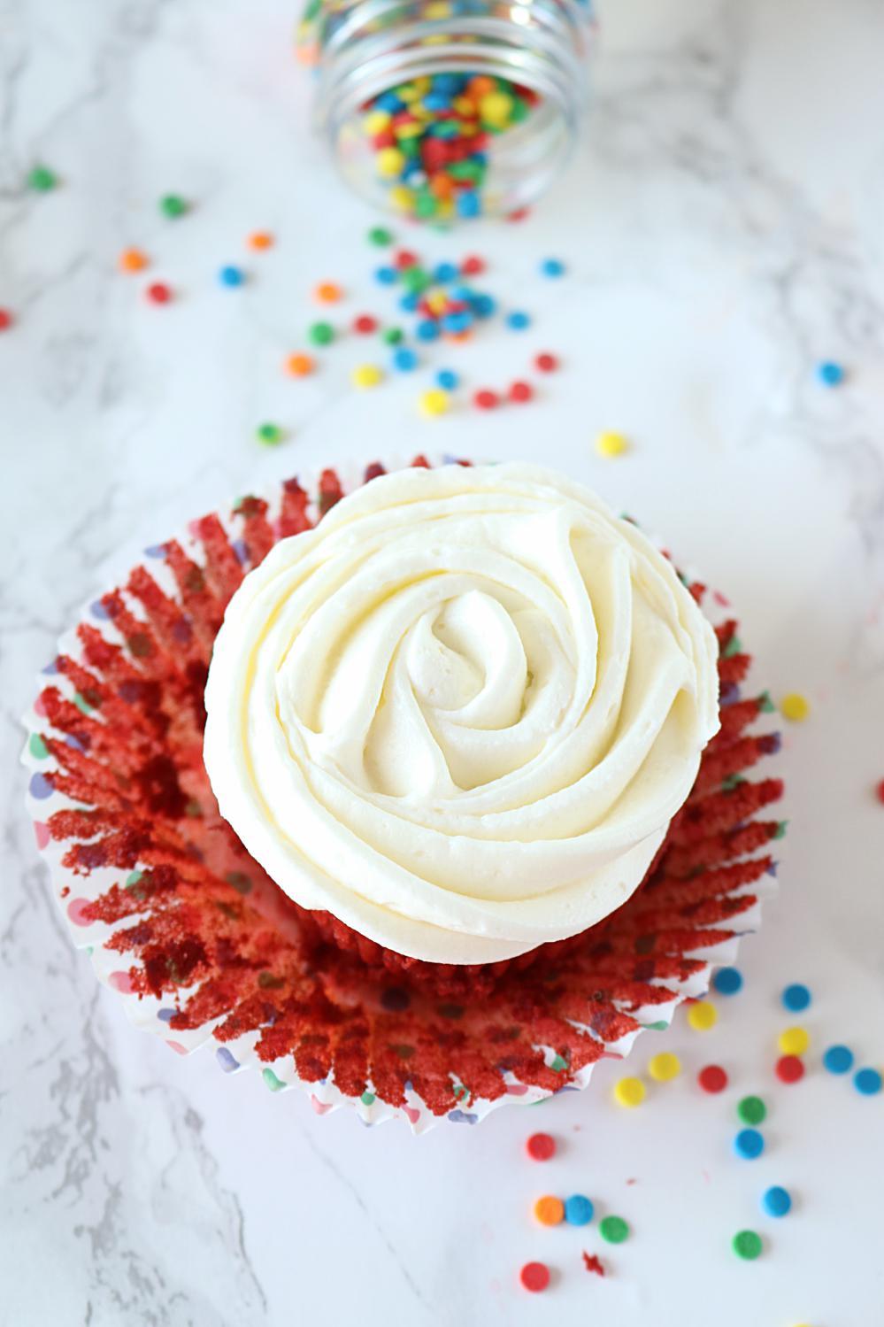 How to make Eggless Red Velvet Cupcakes - Ruchiskitchen