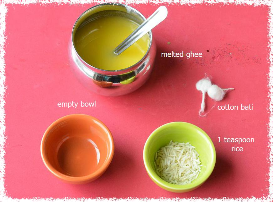 How to make Karwa chouth diya or lamp