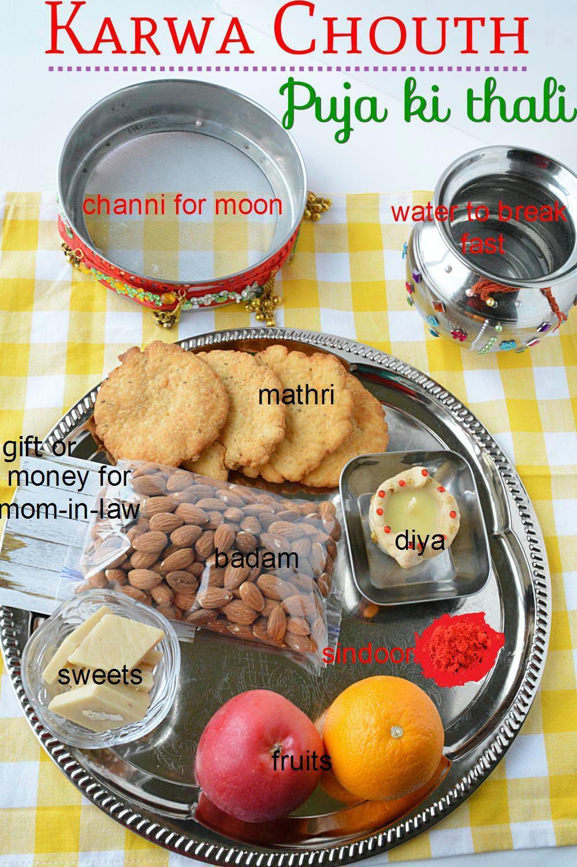 Karwa Chouth Sargi ki Thali and Puja ki thali