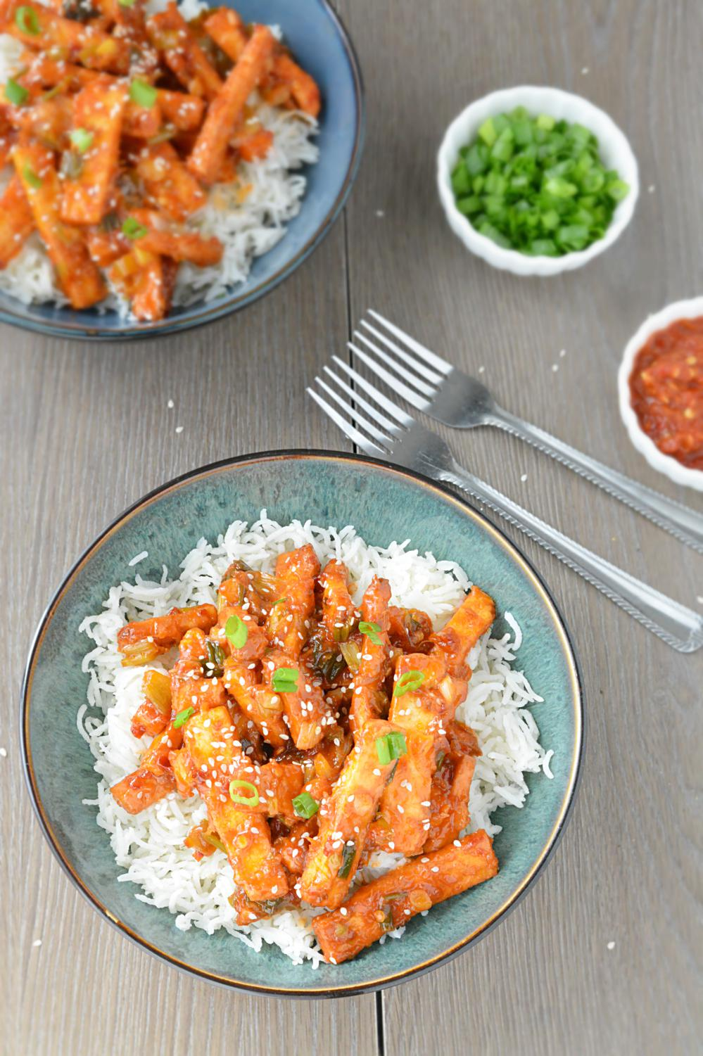Sweet and Sour Honey Lemon Paneer
