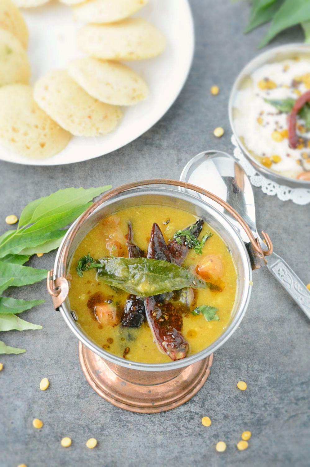 Sambar no onion no garlic recipe