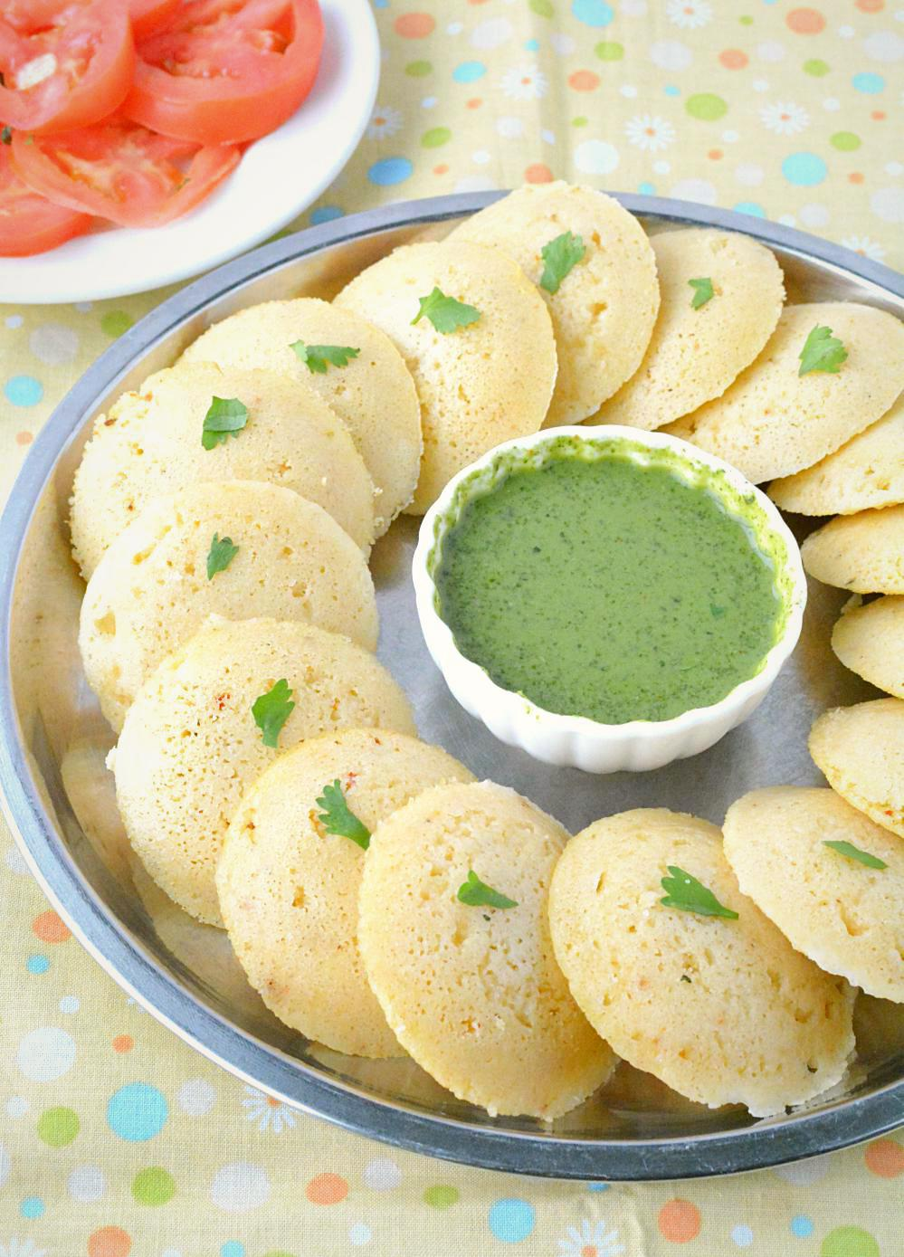 Vrat ki Idli arranged in a plate