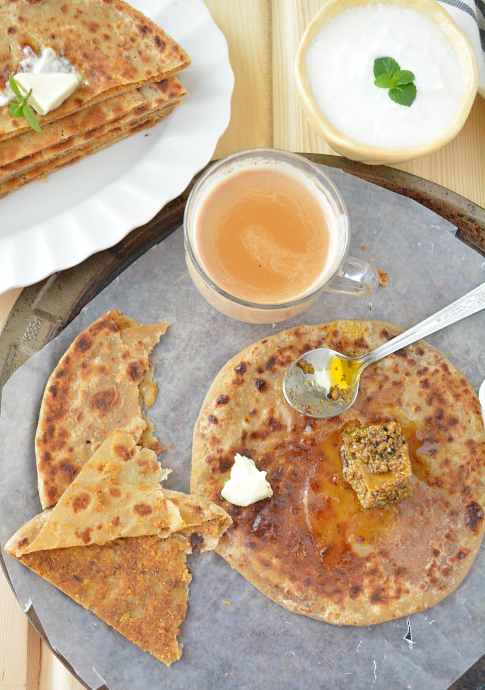 Onion and Besan ka Paratha