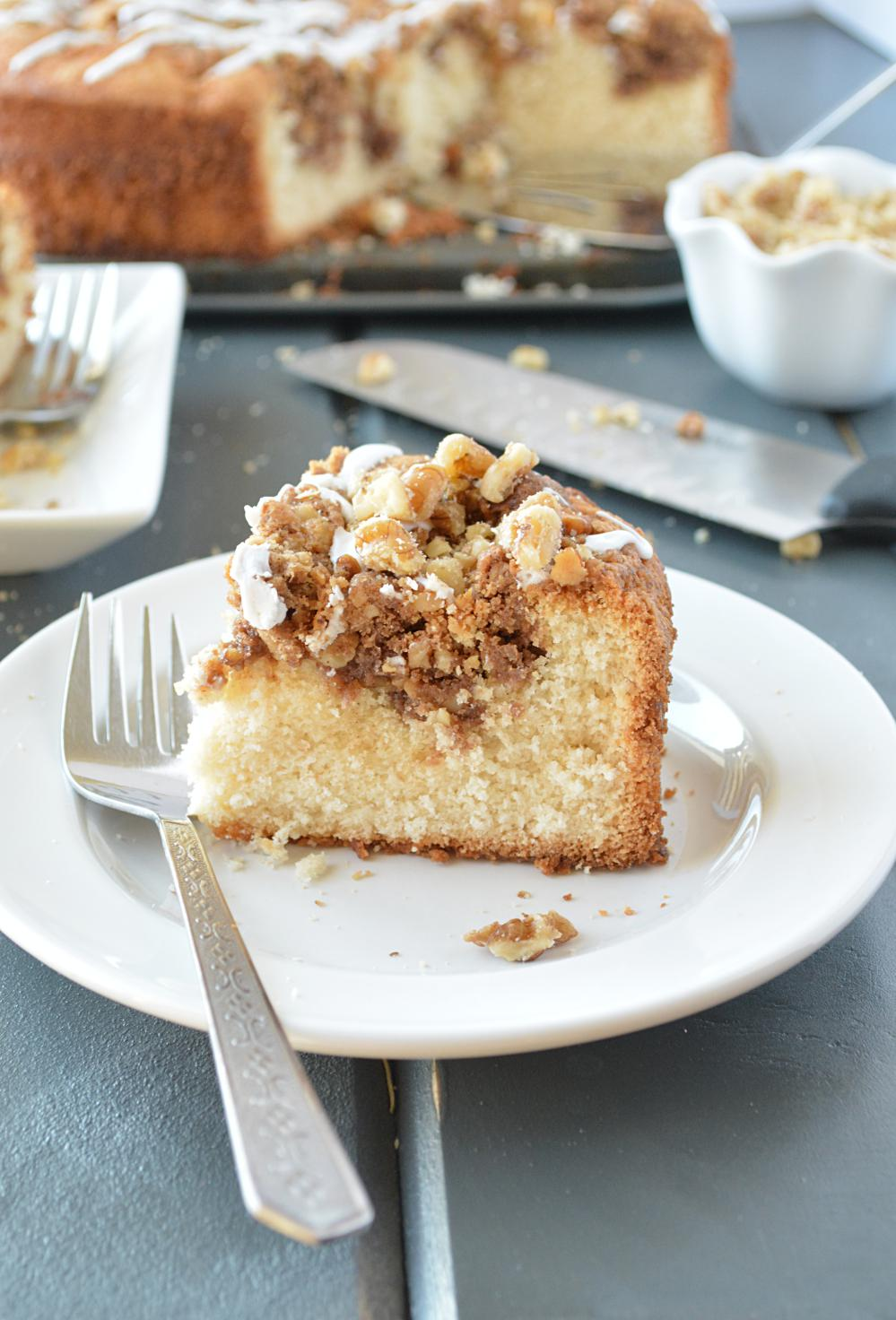 Walnut Crumble Coffee Cake