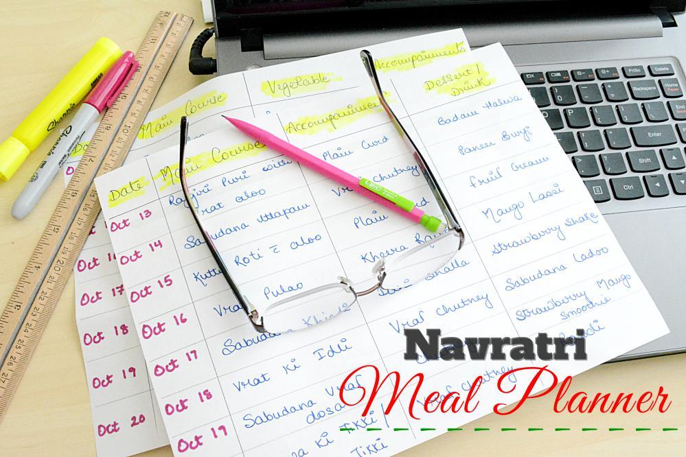 Navratri Meal Planning - Ruchiskitchen