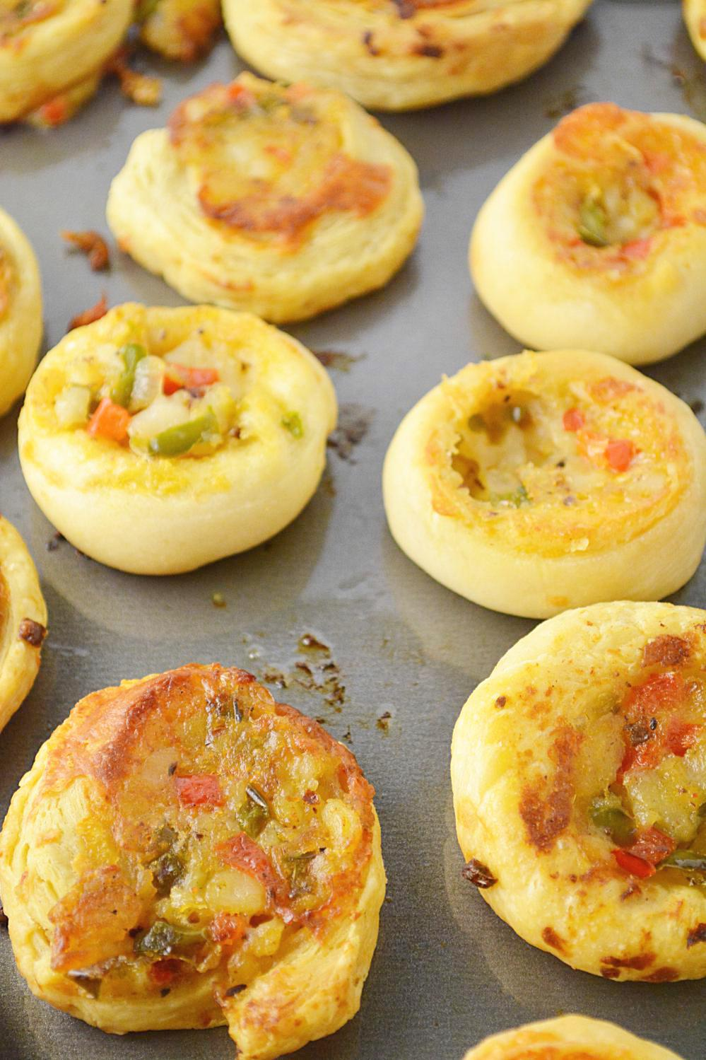 Veggie Pinwheels Party Appetizer, Party Potluck Recipes