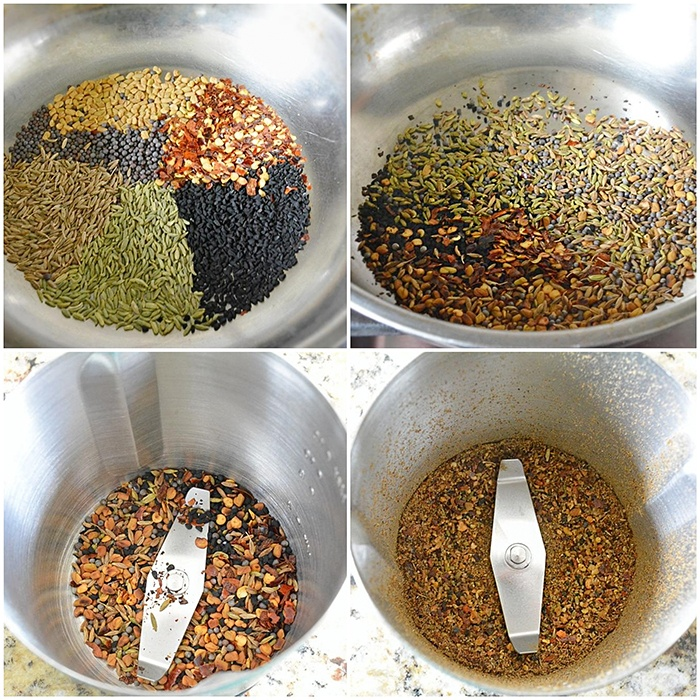 Prepare achari masala